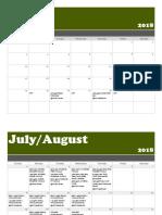 Calendar - JUNE