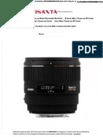 Sigma 85mm f:1.4 EX DG HSM Para Canon