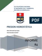Práctica N° 4 Presión Hidrostática