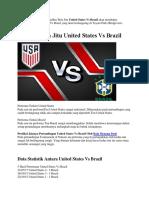 Prediksi Bola Jitu United States vs Brazil