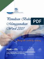 Buku Pelatihan Penulisan Buku Ajar Menggunakan Word 2007 (Dengan Video)
