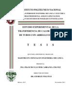 Estudio Experimental de La Transferencia de Calor en Bancos de Tubos