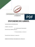 Informe de Abril