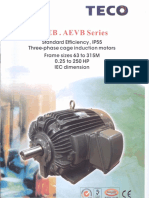 Teco Fan Motor Aeeb and Aevb Series