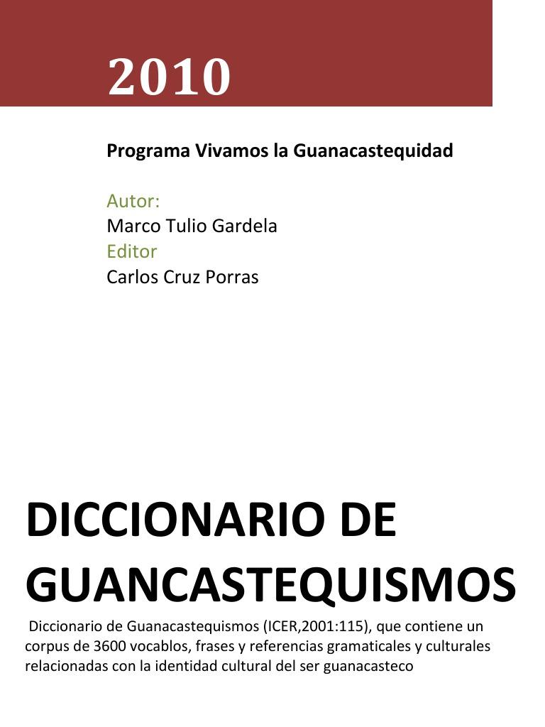Diccionario de Guanacastequismos