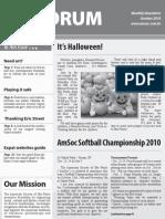 AmSoc Forum October 2010 issue