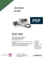 User Manual ESD30N