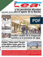Periódico Lea Lunes 30 de Julio Del 2018
