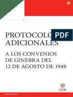 CICR 2012 Protocolos Adicionales a Los Convenios de Ginebra