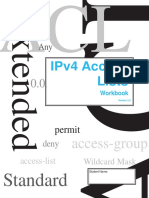 IPv4 Access Lists Workbook