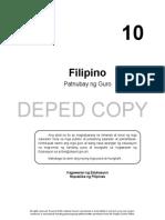 Filipino 10- Teachers Guide