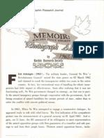 Memoir - Kachin Peace Efforts