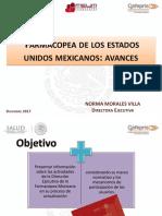 Farmacopea Avances. Norma Morales