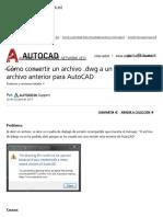 Cómo Convertir Un Archivo de autocad