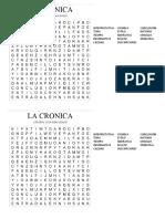La Cronica_sopa de Letras