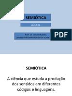 Aula de Semiótica 01 e 02