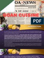 Cuisine of Goa by Chef Sachin