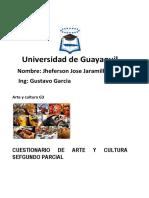 Cuestionario Arte y Cultura Segundo Parcial 2017-2-5