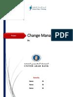 Change Management Project