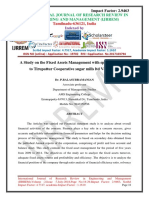 A Study on the Fixed Assets Management With Special Reference to Tirupattur Cooperative Sugar Mills Ltd Vellore D.t
