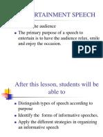 Informative Speech Cot - Wed.