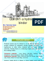 CEMENT- The Hydraulic Binder