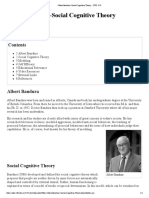 Albert Bandura-Social Cognitive Theory - ETEC 510