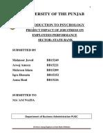 stress on employee performance