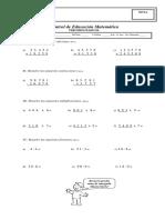 Examen 2do Basico-mat