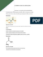 Características de Los Aminoácidos