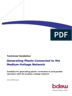 Generating Plants Connected to the Medium Voltage Network LT