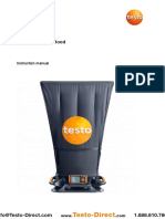 Hướng dẫn sử dụng thiết bị đo lưu lượng gió Testo 420