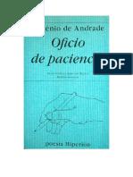 De Andrade Eugenio - Oficio de Paciencia