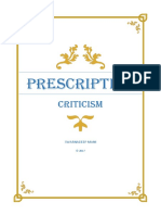 Prescription Criticism