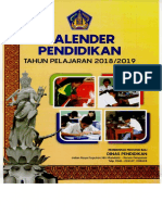 Kalender Pendidikan TP. 2018-2019