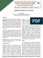 Serial Manipulator Design for an AG-Robot