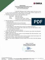 Pengumuman Panggilan Tes Kesehatan Rekrutmen Auditor