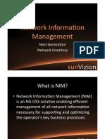 Network Information Management - sunVizion