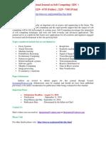 International Journal on Soft Computing IJSC