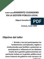 Empoderamiento Ciudadano en La Gestión Pública Local