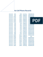 Cell Phone Record