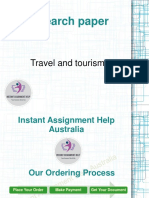 Research paper on Travel and tourism