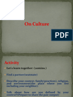 On Culture