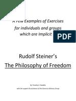 Exercises on Rudolf Steiner's The Philosophy of Freedom