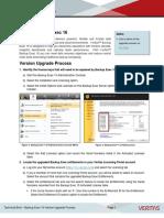 BE 16 Technical Brief Version Upgrade Process Nov 2016
