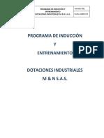 Programa de Inducción y Entrenamiento de Sst m & n