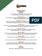 Bellini Italian Ristorante on Fifth Dinner Menu