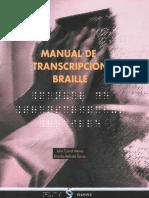 Manual de transcripción Braille (ONCE)
