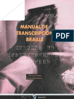 Manual de transcripción Braille (ONCE)
