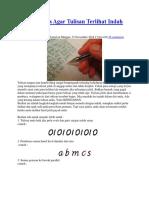 Cara Menulis Agar Tulisan Terlihat Indah dan Rapih.docx